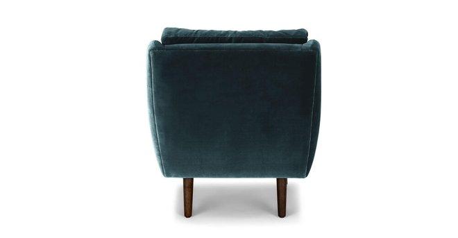 Matrix Modern Contemporary Velvet Chair Pacific Blue