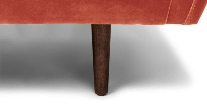 Matrix Modern Contemporary Velvet Chair Orange