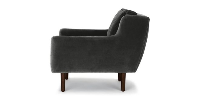 Matrix Modern Contemporary Velvet Chair Shadow Gray