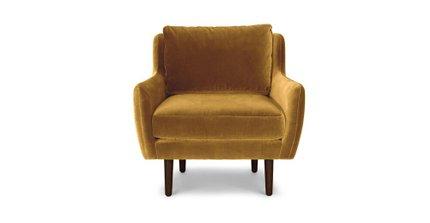Matrix Modern Contemporary Velvet Chair Yarrow Gold