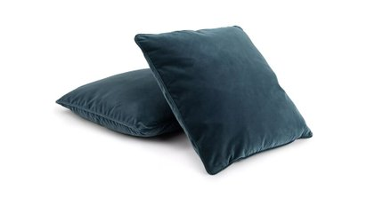 Lucca Velvet Pillow Pacific Blue (Set Of 2)