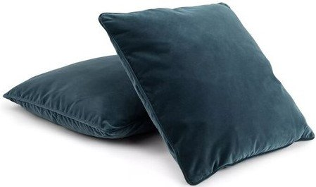 Article Lucca Velvet Pillow Pacific Blue (Set Of 2)
