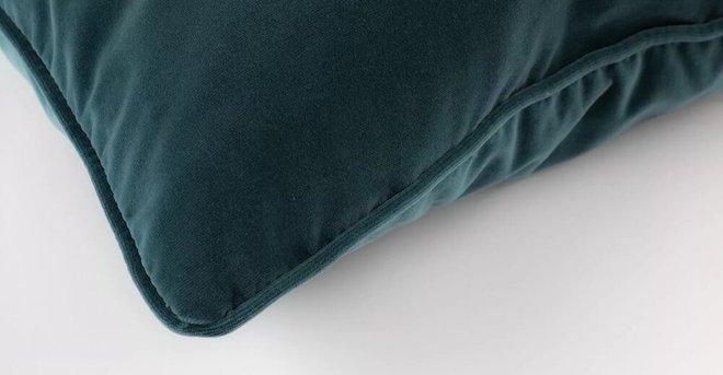 Lucca Velvet Pillow Pacific Blue (Set Of 2)