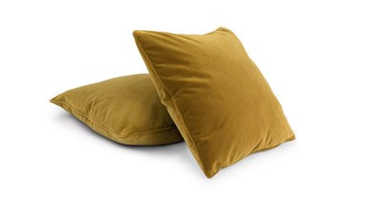 Lucca Velvet Pillow Yarrow Gold (Set Of 2)