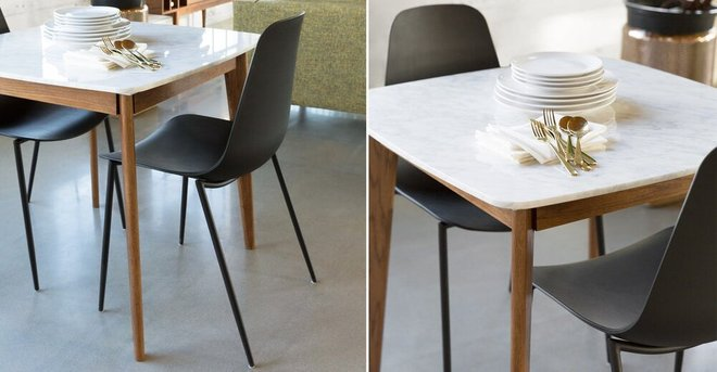 Svelti Contemporary Dining Chair Black Set Of 2 In La Chairs Casaone