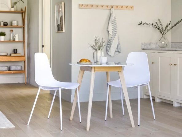 Article Svelti Contemporary Dining Chair White (Set of 2)