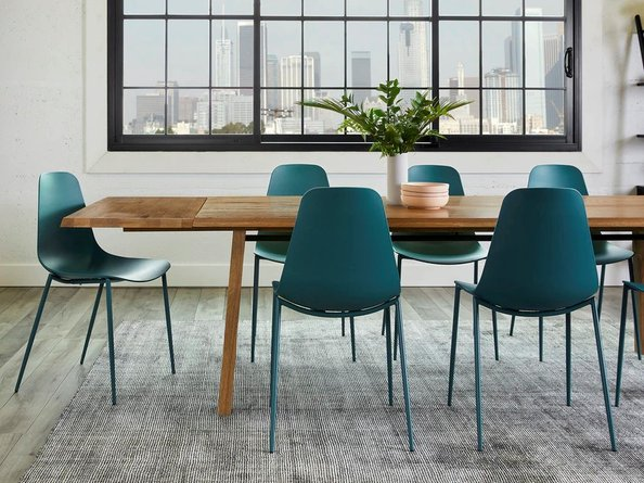 Article Svelti Contemporary Dining Chair Deep Cove Teal (Set of 2)