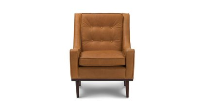 Article Nina Mid-Century Modern Arm Chair Charme Tan