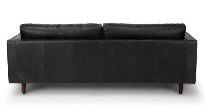 Sven Mid-Century Modern Tufted Leather Sofa Chocolat Black in NY ...