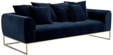 Article Kits Mid-Century Modern Sofa Cascadia Blue And Brass