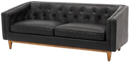 Article Alcott Modern Leather Sofa Black
