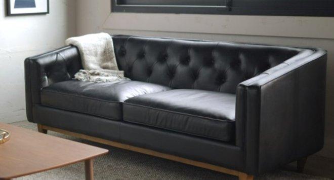 Article Alcott Modern Leather Sofa Black