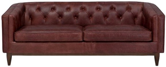 Article Alcott Modern Leather Sofa Oxblood