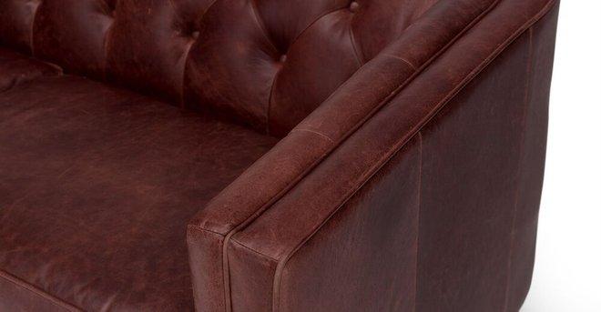 Alcott Modern Leather Sofa Oxblood