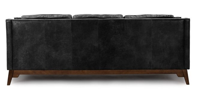 Article Worthington Mid-Century Modern Sofa Black And Walnut