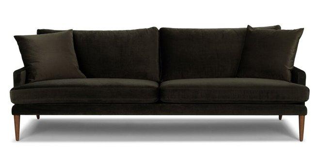 Luxu Mid-Century Modern Sofa Cedar Green