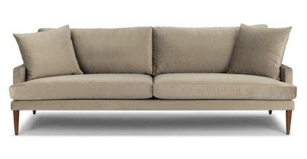 Luxu Mid-Century Modern Sofa Shitake Taupe