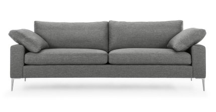 Nova Modern Contemporary Sofa Gravel Gray