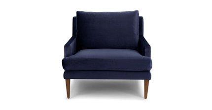 Luxu Lounge Chair Nightshade Blue