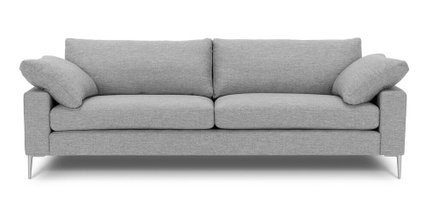 Nova Modern Contemporary Sofa Winter Gray