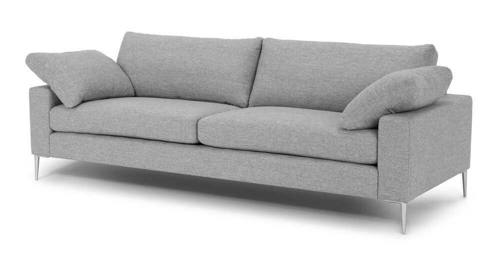 Awesome Nova Modern Contemporary Sofa Winter Gray In La Sofas Gmtry Best Dining Table And Chair Ideas Images Gmtryco