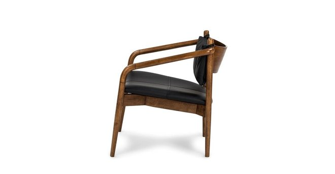 Article Lento Mid Century Modern Lounge Chair Black & Walnut