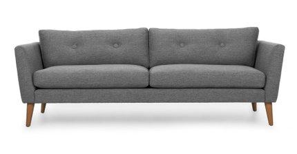 Emil Mid-Century Modern Sofa Gravel Gray