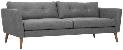 Article Emil Mid-Century Modern Sofa Gravel Gray