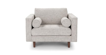 Sven Tufted Fabric Chair Birch Ivory
