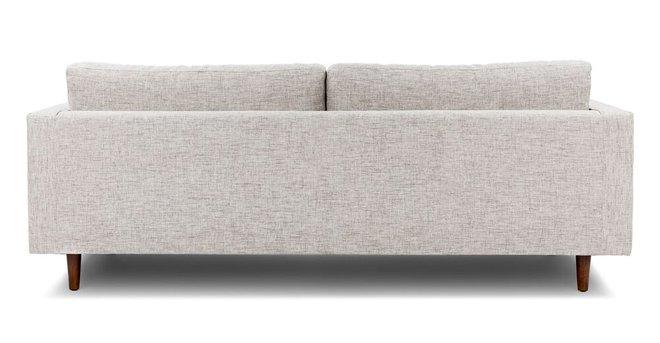 Sven Soma Mid-Century Modern Tufted Fabric Sofa Ivory
