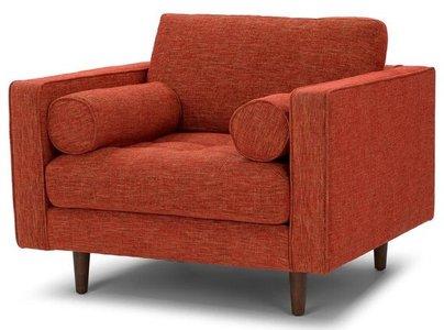 Article Sven Mid-Century Modern Chair Orange