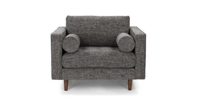 Sven Tufted Fabric Chair Briar Gray