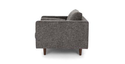 Sven Tufted Fabric Chair Briar Gray