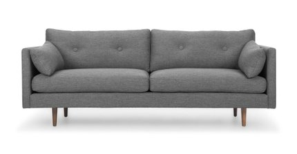 Anton Gravel Sofa Dark Gray