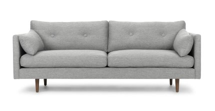 Anton Gravel Sofa Gray