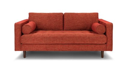 Sven Mid-Century Modern Sofa Orange