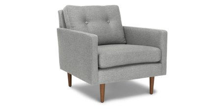 Article Noah Mid Century Modern Armchair Winter Gray