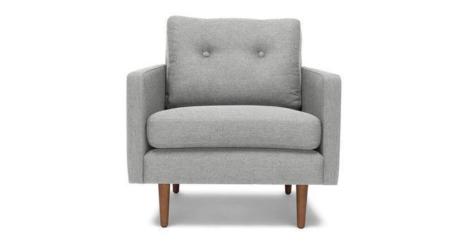 Article Noah Mid Century Modern Armchair Winter Gray