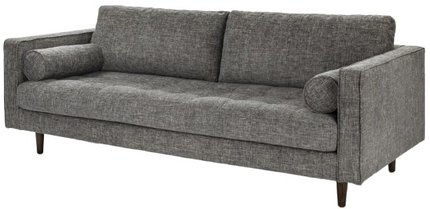 Article Sven Mid-Century Modern Tufted Fabric Sofa Brair Gray