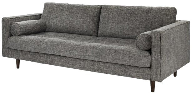Article Sven Mid-Century Modern Tufted Fabric Sofa Brair Gray