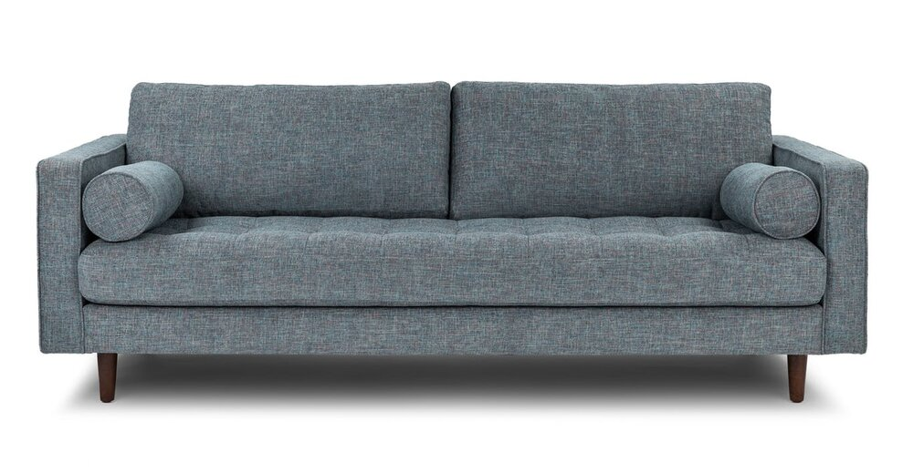 Phenomenal Sven Mid Century Modern Tufted Fabric Sofa Tweed In Sf Onthecornerstone Fun Painted Chair Ideas Images Onthecornerstoneorg