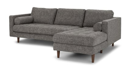 Sven Right Sectional Sofa Briar Gray