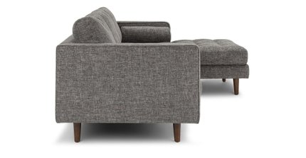 Sven Right Sectional Sofa Briar Gray