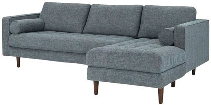 Article Sven Right Sectional Sofa Aqua Tweed