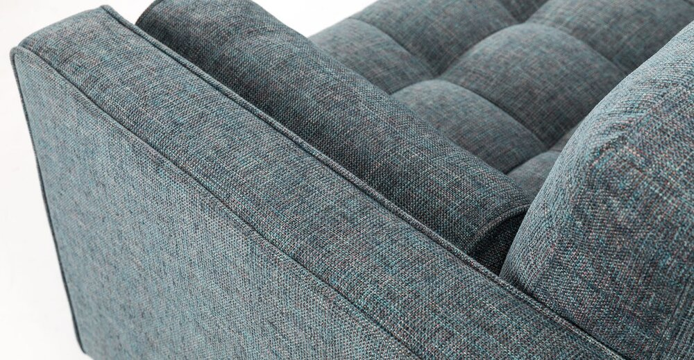 Surprising Sven Right Sectional Sofa Aqua Tweed In La Sectional Sofas Pabps2019 Chair Design Images Pabps2019Com