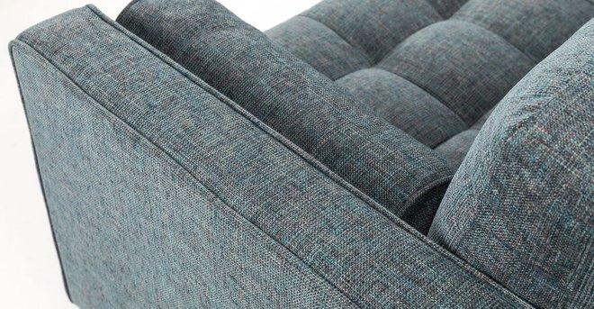Sven Right Sectional Sofa Aqua Tweed