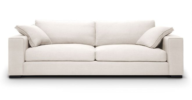Sitka Modern Contemporary Sofa White