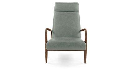 Pender Leather Chair Charme Jasper Blue