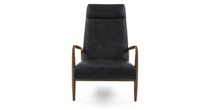 Pender Leather Chair Charme Black