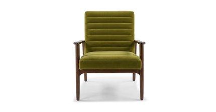 Thetis Velvet Chair Olive Green